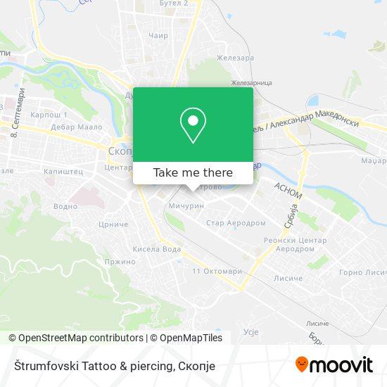 Štrumfovski Tattoo & piercing map