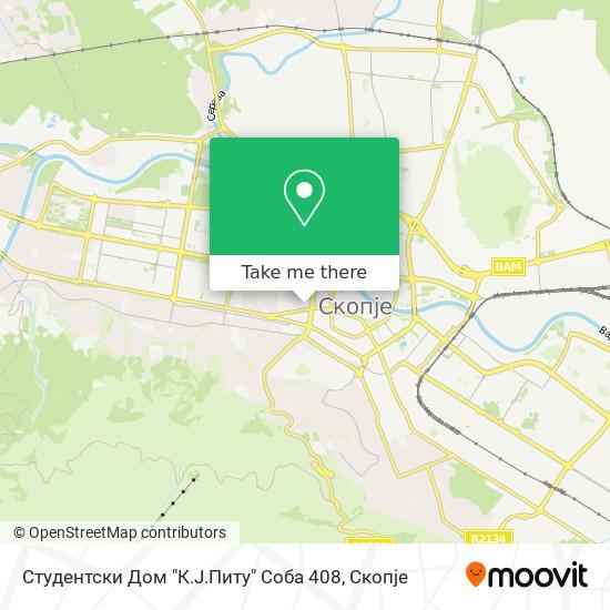 """Студентски Дом """"К.Ј.Питу"""" Соба 408 map"""