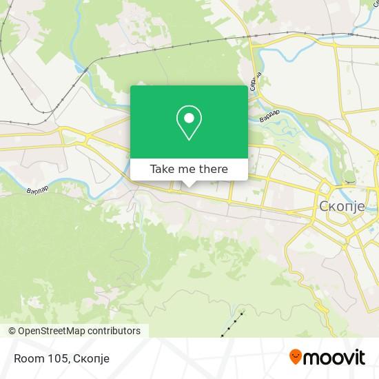 Room 105 map