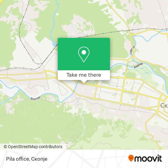 Pila office map