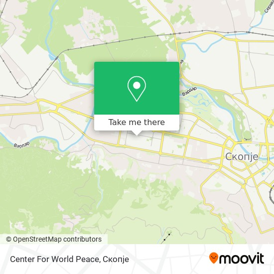Center For World Peace map