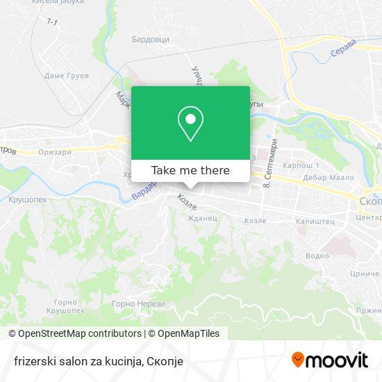 frizerski salon za kucinja map