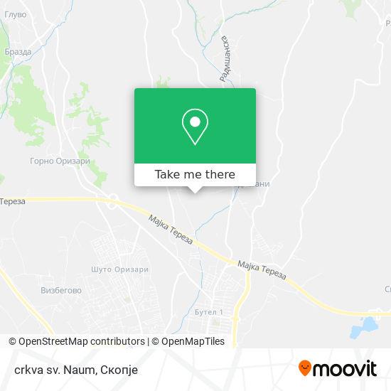 crkva sv. Naum map