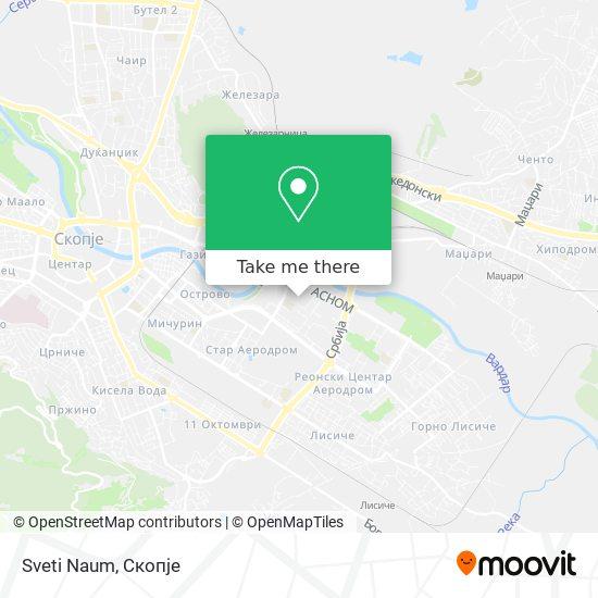 Sveti Naum map