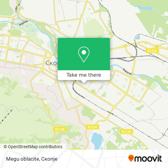 Megu oblacite map