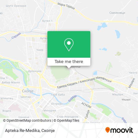Apteka Re-Medika map