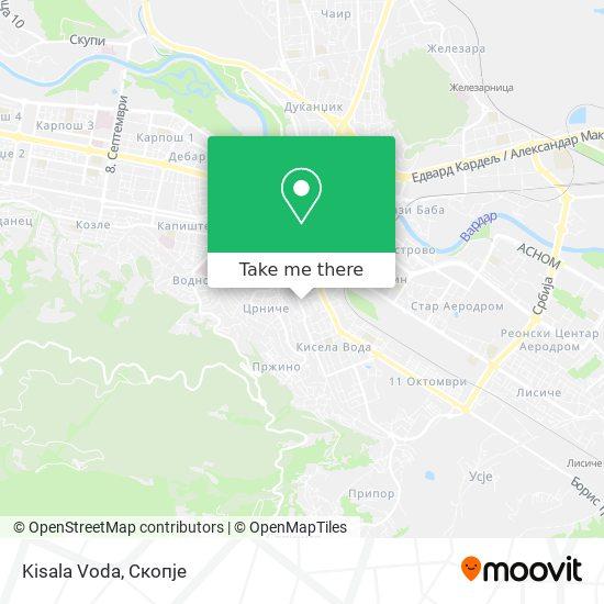 Kisala Voda map
