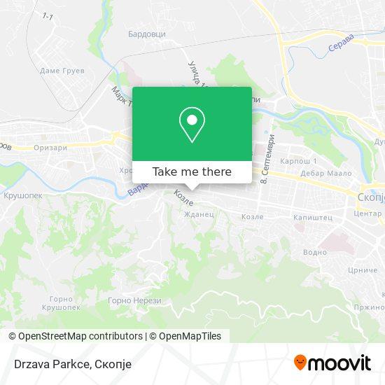 Drzava Parkce map