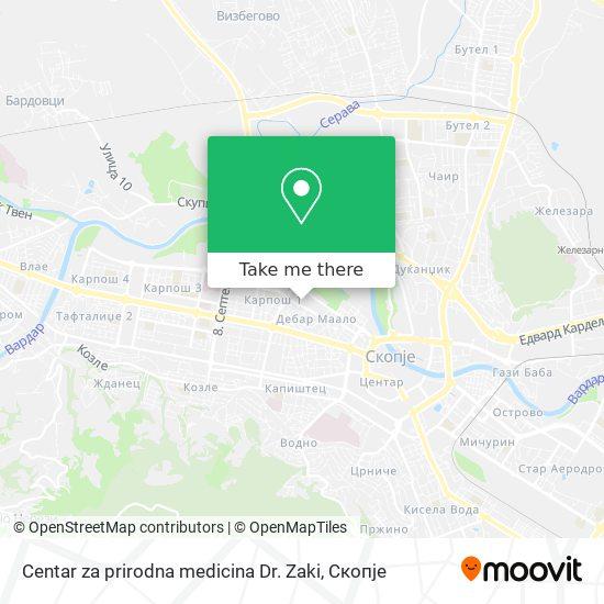 Centar za prirodna medicina Dr. Zaki map