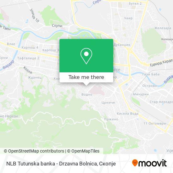 NLB Tutunska banka - Drzavna Bolnica map