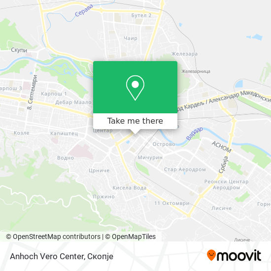 Anhoch Vero Center map