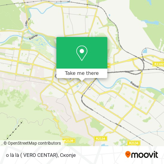 o là là ( VERO CENTAR) map