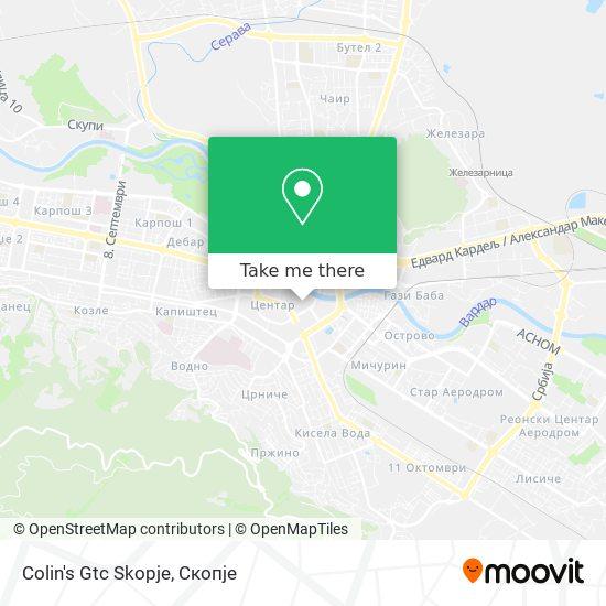 Colin's Gtc Skopje map