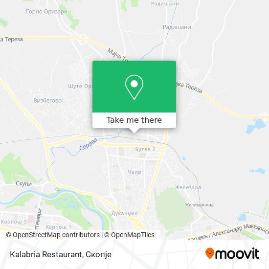 Kalabria Restaurant map