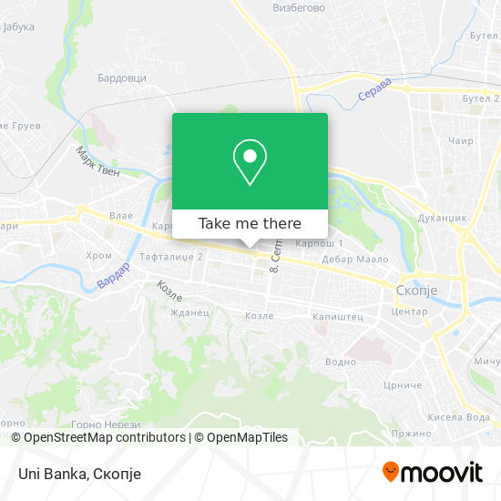 Uni Banka map