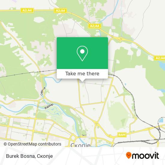 Burek Bosna map