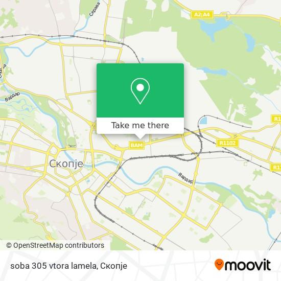 soba 305 vtora lamela map