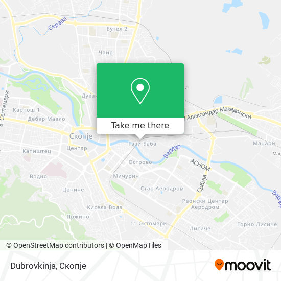 Dubrovkinja map