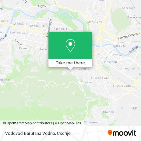 Vodovod Barutana Vodno map