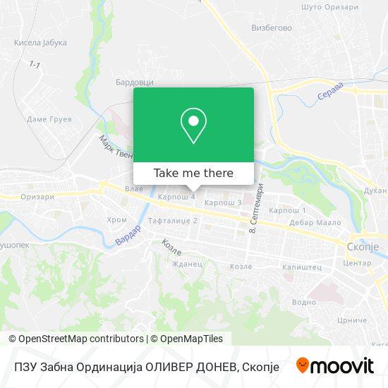 ПЗУ Забна Ординација ОЛИВЕР ДОНЕВ map