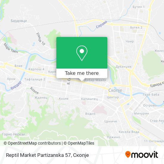 Reptil Market Partizanska 57 map