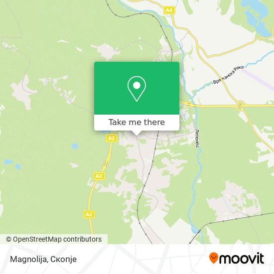 Magnolija map