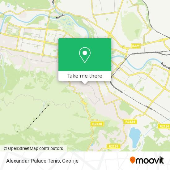 Alexandar Palace Tenis map