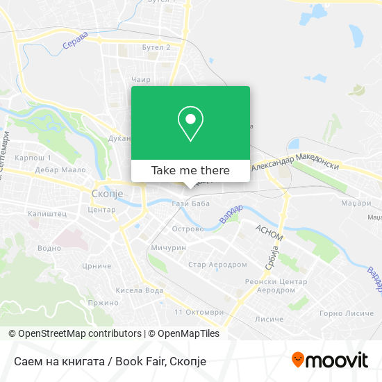 Саем на книгата / Book Fair map