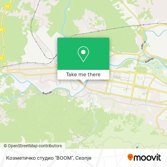 """Козметичко студио """"BOOM"""" map"""