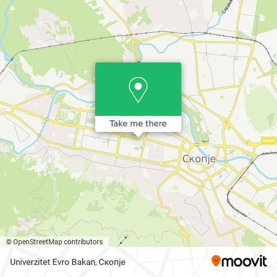 Univerzitet Evro Bakan map