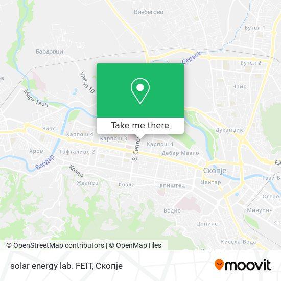 solar energy lab. FEIT map