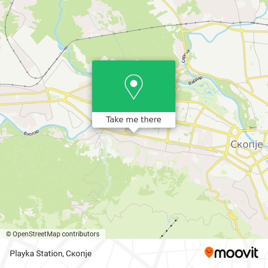 Playka Station map