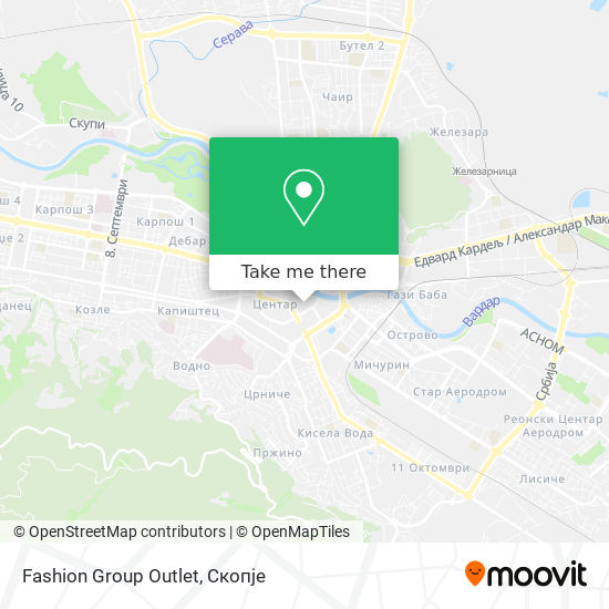 Fashion Group Outlet map