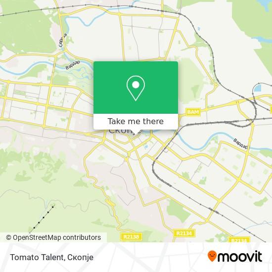 Tomato Talent map