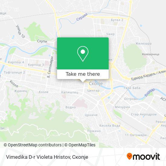 Vimedika D-r Violeta Hristov map