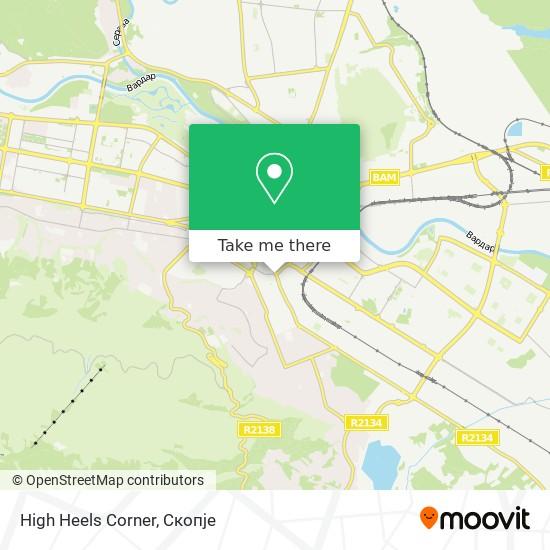 High Heels Corner map