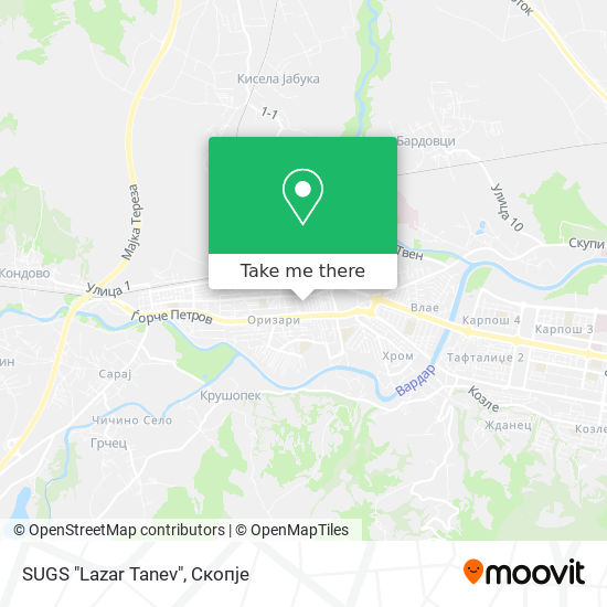 """SUGS """"Lazar Tanev"""" map"""