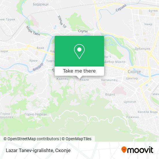 Lazar Tanev-igralishte map