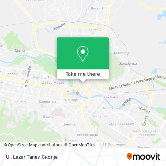 Ul. Lazar Tanev map