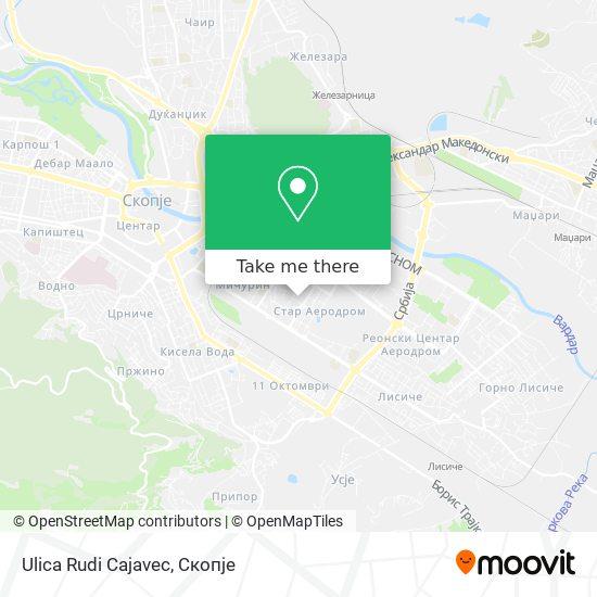 Ulica Rudi Cajavec map