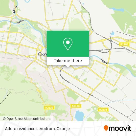 Adora rezidance aerodrom map