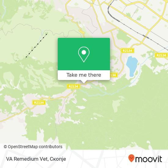 VA Remedium Vet map