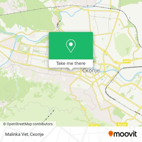 Malinka Vet map