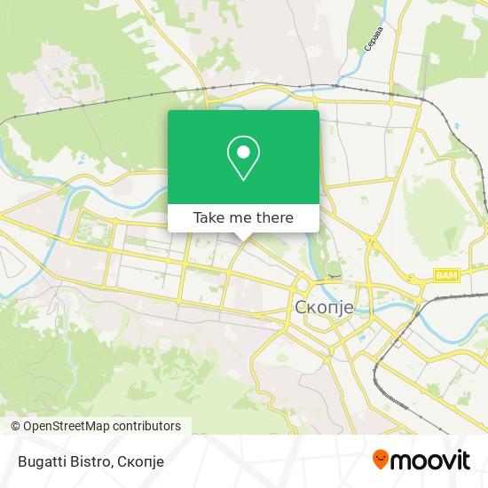 Bugatti Bistro map