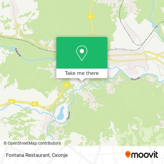 Fontana Restaurant map