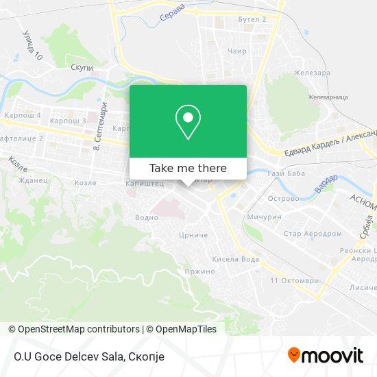 O.U Goce Delcev Sala map
