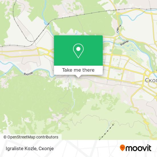 Igraliste Kozle map