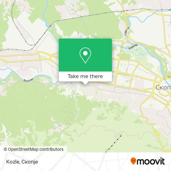 Kozle map