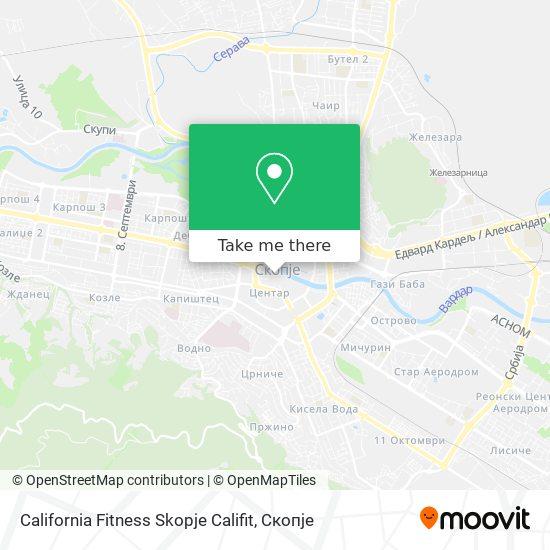 California Fitness Skopje Califit map