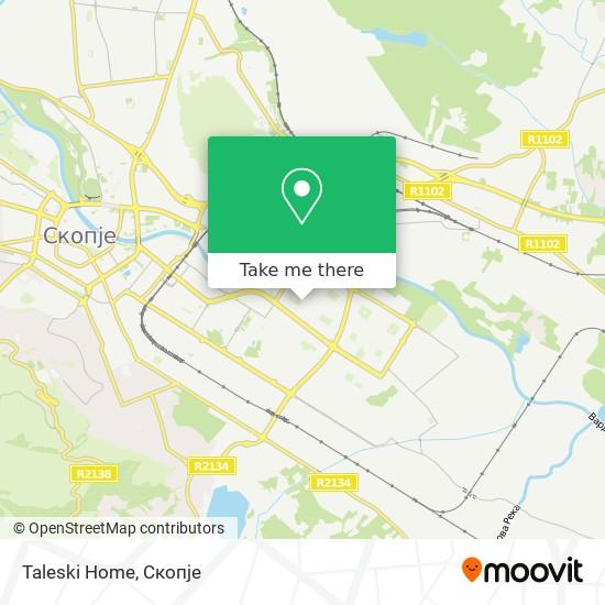 Taleski Home map